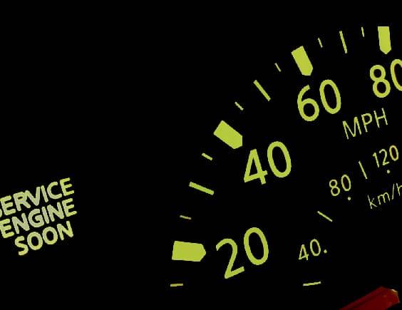Car Service Engine Soon Warning Light